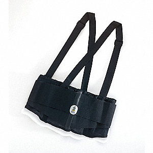 "Black Elastic Back Support, Back Support Size: XS, Fits Waist Size 25"" to 30"""