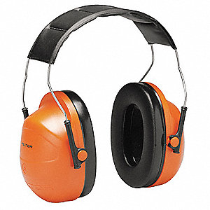 Ear Muff,24dB,Headband,Orange