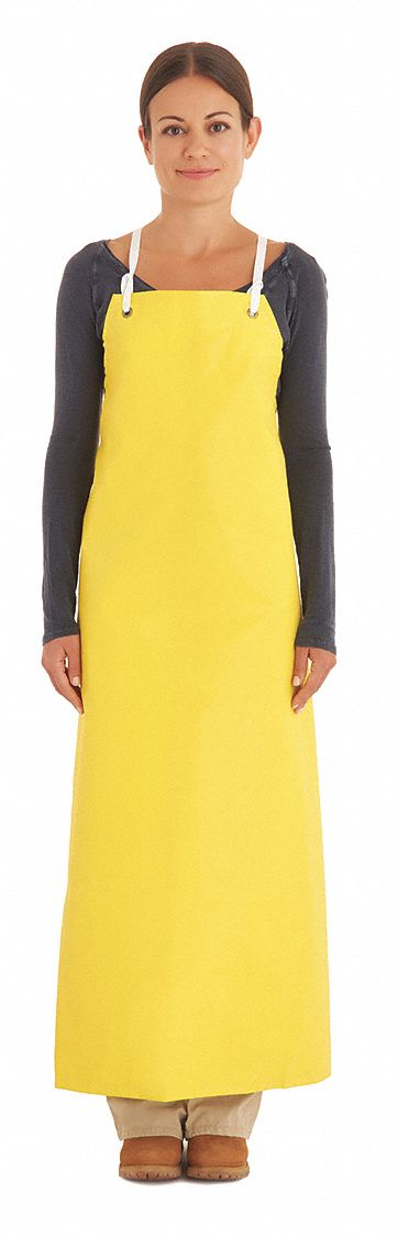 Ansell Chemical Resistant Bib Apron Yellow 45 Quot Length