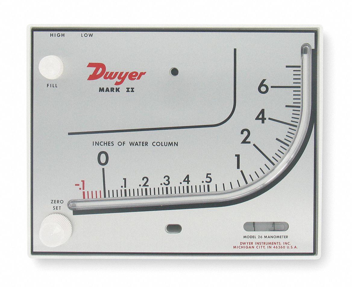 Dwyer Instruments Manometer 3t292 Mark Ii 26 Grainger