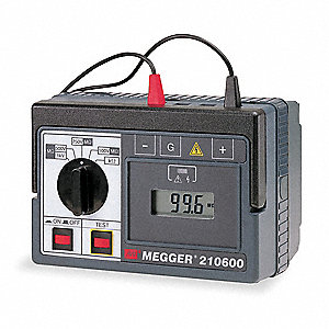 Battery Operated Megohmmeter,100/1000VDC