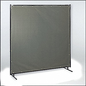 Transparent Vinyl Welding Screen, Height: 6 ft., Width: 8 ft., Yellow