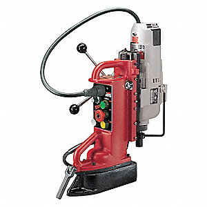 Magnetic Drill Press,750/375 RPM,1.25 In