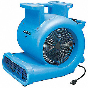 Portable Blower Fan,115V,1438 cfm,Gray