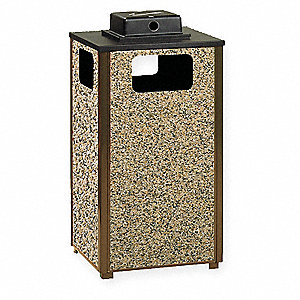 24 gal. Dimension 500 Series, Brown/Beige, Steel/Stone, Ash/Trash Can