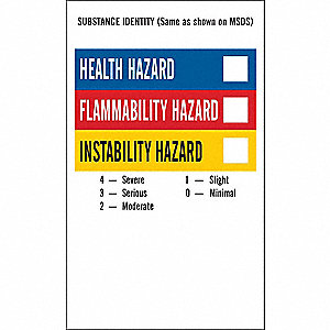 NFPA Label,5 In.H,3 In.W,PK500