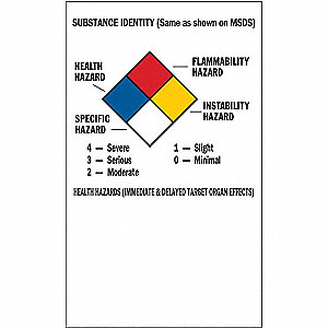 NFPA Label,5x3,Self-Adhes. Paper,PK500