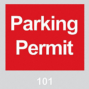 Parking Permits,Windshield,Red,PK100