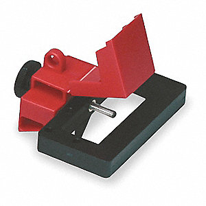 Breaker Lockout,Oversized,480/600V,Red