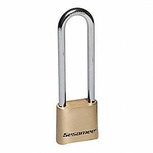 Combination Resettable Padlock,Brass