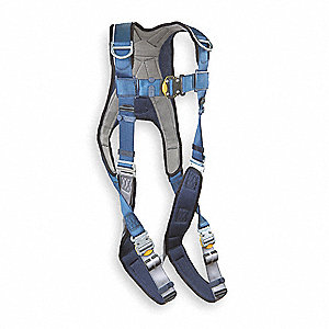 Full Body Harness,M,420 lb.,Blue/Gray