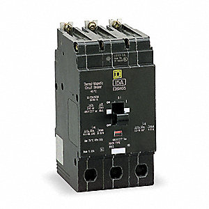 Bolt On Circuit Breaker, 50 Amps, Number of Poles:  3, 277/480VAC AC Voltage Rating
