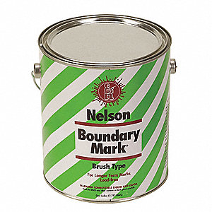 Yellow Boundary Marking Paint, Water Base Type, 1 gal.