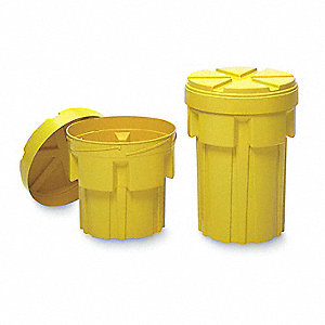 Salvage Drum,Open Head,20 gal.,Yellow