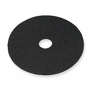 "19"" Black Stripping Pad, Non-Woven Nylon/Polyester Fiber, Package Quantity 5"