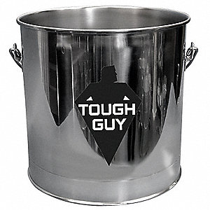8 gal. Silver Stainless Steel Bucket, 1  EA