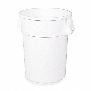 BRUTE 44 gal. White, LLDPE Utility Container