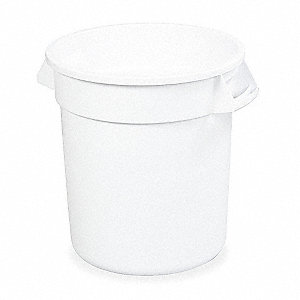 BRUTE 10 gal. White, LLDPE Utility Container