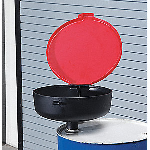 Drum Funnel with Lid,22 In,with Spout