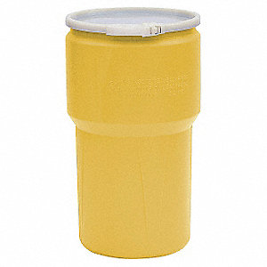 Transport Drum,Open Head,14 gal.,Yellow