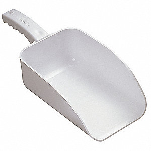 Large Hand Scoop,White,15 x 6-1/2 In