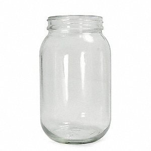 950mL/32 oz. Bottle, Wide Mouth, Flint Glass Type III, PK 12