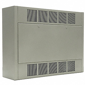 Electric Cabinet Unit Heater, Wall, Ceiling, or Floor, Voltage 208, Amps AC 25.00/16.00, 1 or 3 Phas