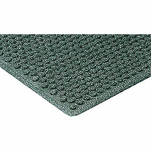 Carpeted Entrance Mat,Green,3ft. x 4ft.