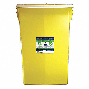 Chemo/Sharps Container,2 Gal.,Hinged,PK5