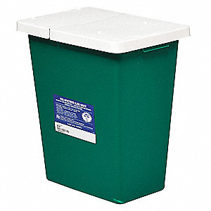 Sharps Container,8 Gal.,Hinged Lid,PK2
