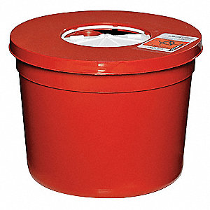 Sharps Container,Red,Round,5 Qt,PK5