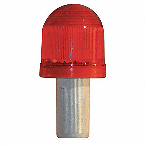 Safety Cone ,LED Flashing,Red,Plastic