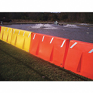 Polycade Traffic Barrier,Yellow,24 In. H
