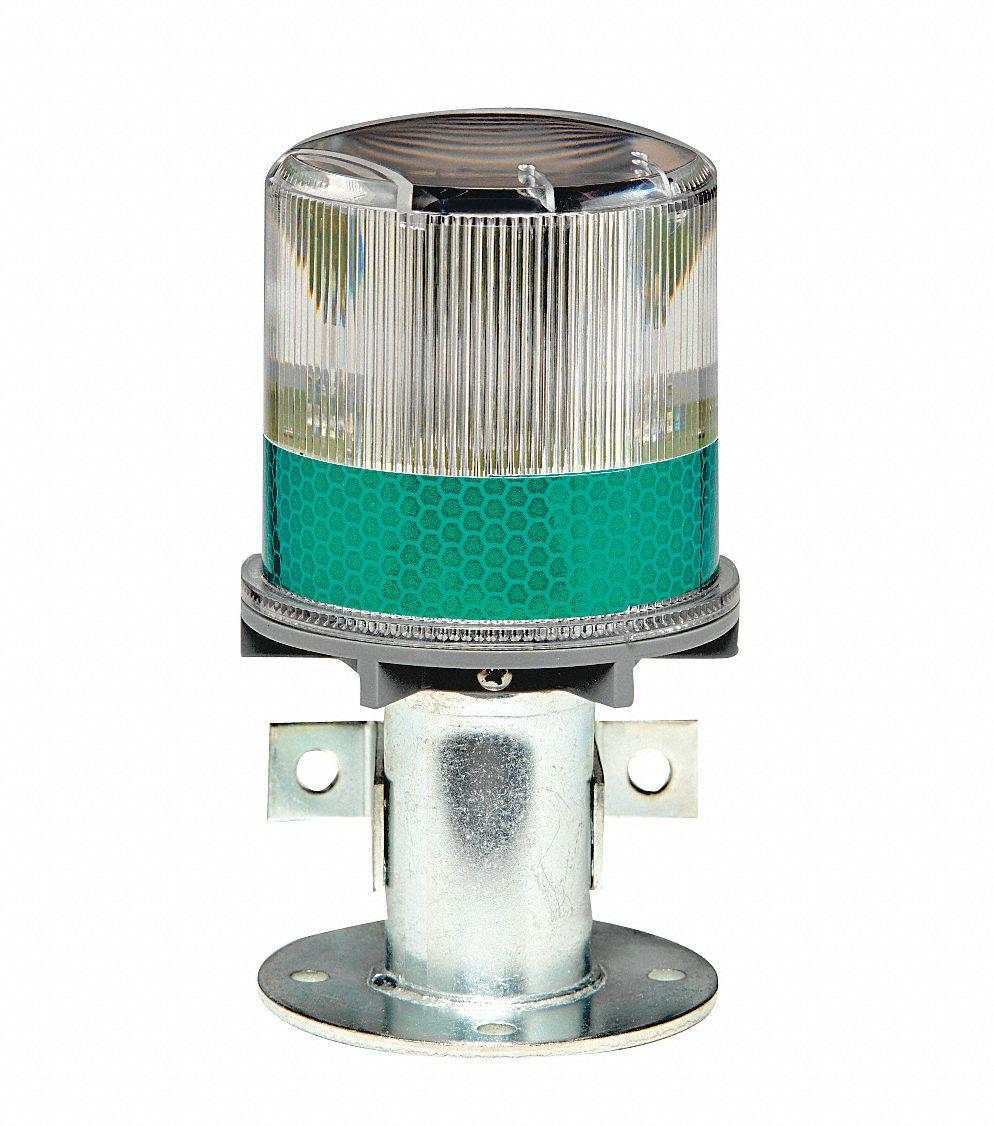 TAPCO Warning Light, (4) LED, Solar NiMH Battery, Flashes