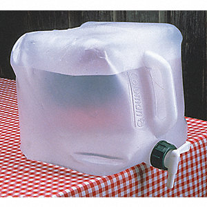 2-1/2 gal. Collapsible Water Jug, Clear Polyethylene, 1 EA