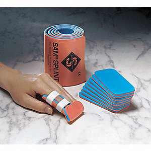 Splint,Finger,Orange/Blue,Foam,PK10