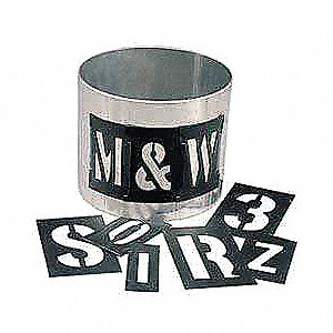 "Stencil Kit, Letters and Numbers, 1"", Plastic, 3 PK"
