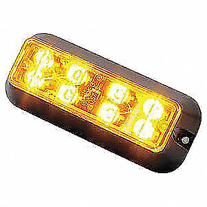 Warning Light,LED,Black,Surface,Rect,5 L