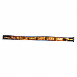 Amber, Incandescent Directional Warning Lights, 12VDC, Permanent Mounting, Length 47""