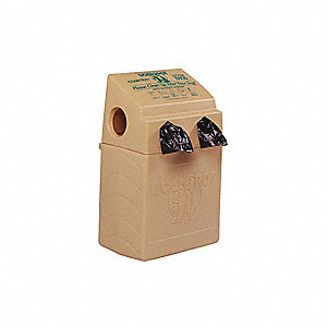 10 gal. DOGVALET®, Beige, Polyethylene, Pet Waste Container