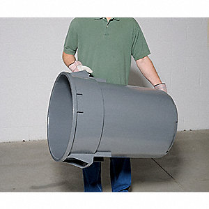 SuperKan Backsaver 44 gal. Gray, Plastic Utility Container