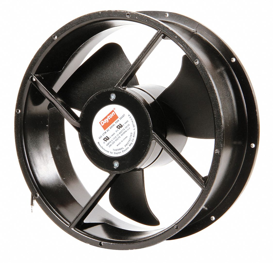 Dayton Axial Fans : Dayton round axial fan quot dia vac voltage