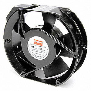 "Round Axial Fan, 5-7/8"" Width, 6-3/4"" Height, 230VAC Voltage"