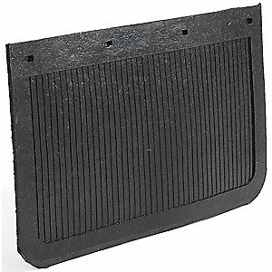 Mud Flaps,Black,24 x 14 In.,PR