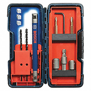 Masonry Drill Bit Set,5/32 And 3/16,9 Pc