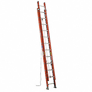 Extension Ladder, Fiberglass, IA ANSI Type, 20 ft. Industry Ladder Size