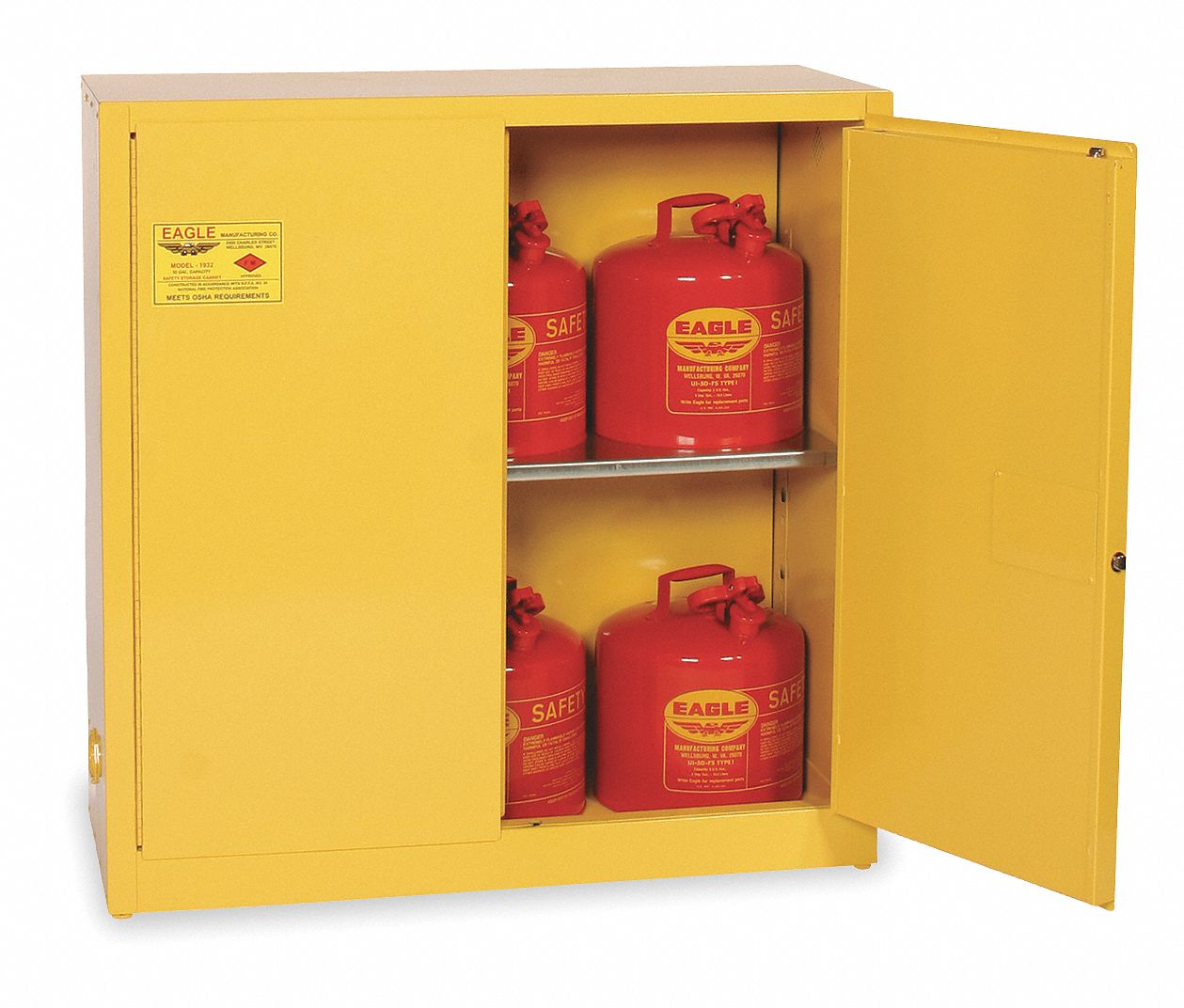 Eagle 30 Gal Flammable Cabinet Manual Safety Cabinet