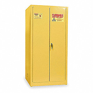 Vertical Drum Cabinet,55 Gal.,Yellow