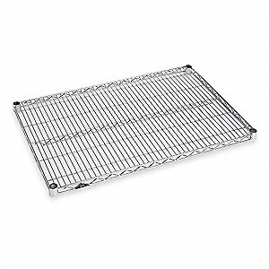 "Chrome Plated Wire Shelf, 48"" Width, 24"" Depth, 800 lb. Capacity"