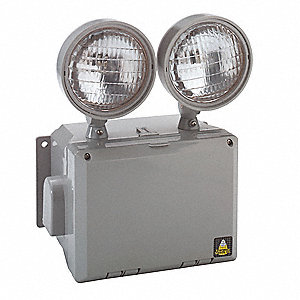 Wet Location Emergency Light,7W,12-1/2In
